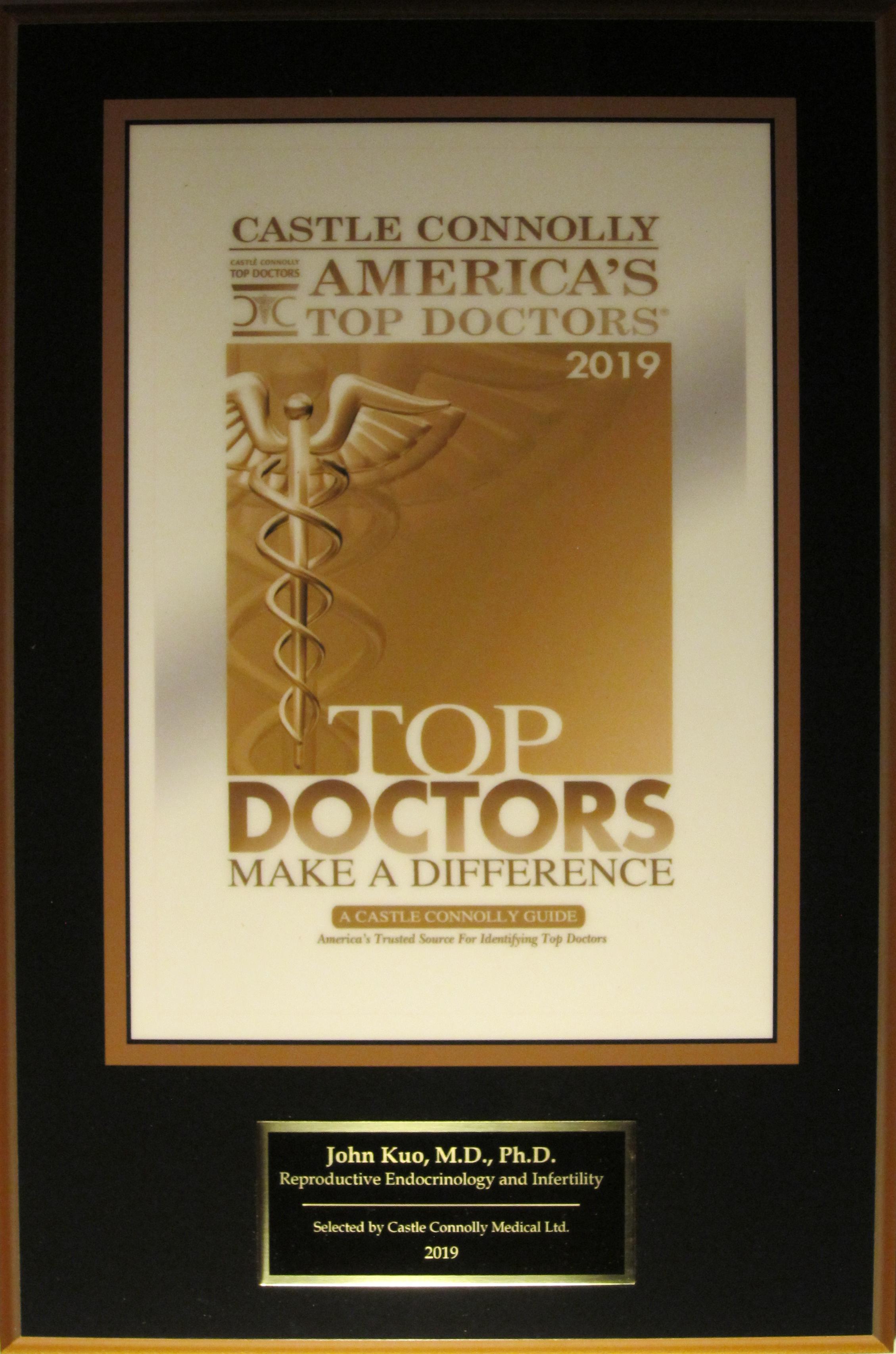 Outstanding Physician Awards | IVF Fertility Center Beverly